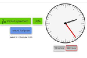 Klicke links auf den grünen Knopf. Stelle danach die richtige Uhrzeit ein.