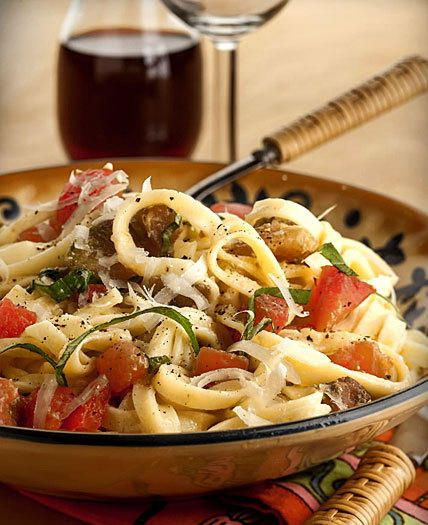 Linguini with Basil and Tomatoes,from The Silver Palate Cookbook