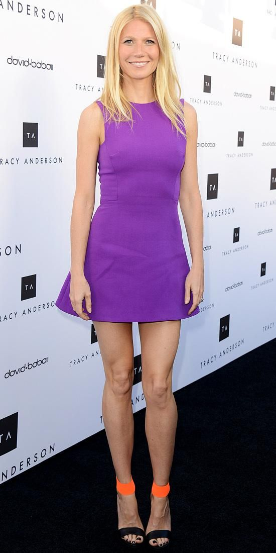 Gwyneth Paltrow brightened up the room in Victoria Beckham