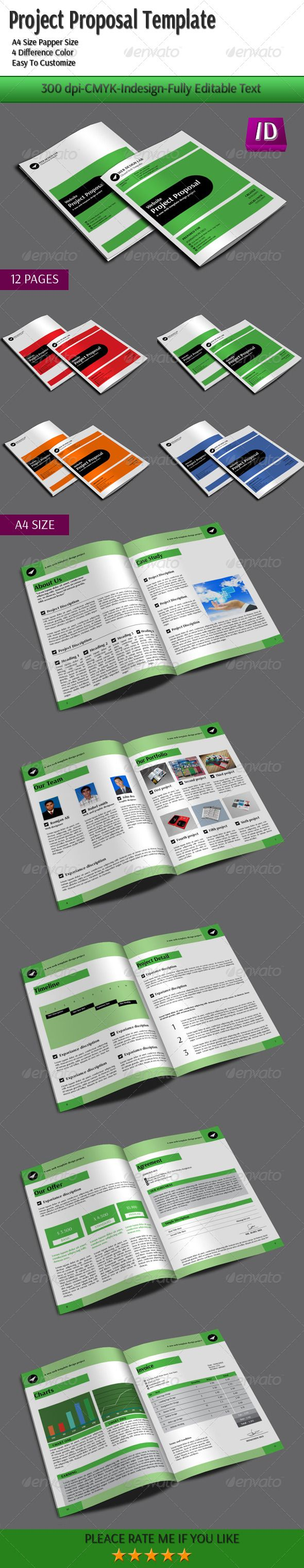 Project Proposal Template #GraphicRiver Discription Ready For Print (300  DPI CMYK) 4 Difference