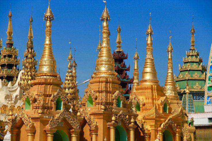 Yangon -  pagodas and colonial architecture