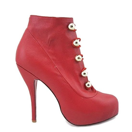 Christian Louboutin Booties Fifre Corset Ankle Red