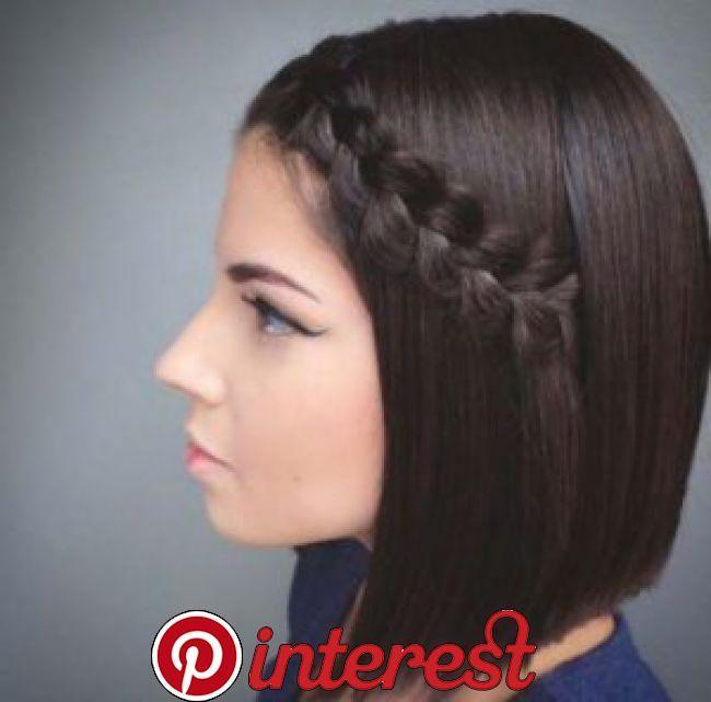 50 Trendy Ways To Braid Short Hair This half up …
