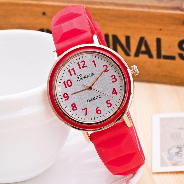 Wholesale Jelly Color Silicone Watch Fashion Quartz Watches Women zegarki damskie drop shipping #Affiliate