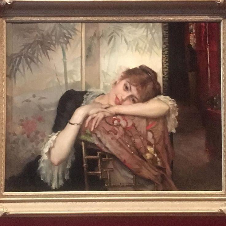 Lumoava sykähdyttävä #magical #virginie Kävin tapaamassa häntä pitkästä aikaa. 40min vuoropuhelua I met her today for a long time. It's more than #painting -  It beats even #monalisa #pariisitar #edelfelt #albertedelfelt #art #painting #finnishart #artlover I'm so happy that she's back home @taidemuseojns #joensuu #finland  #artexperience @mervivoo