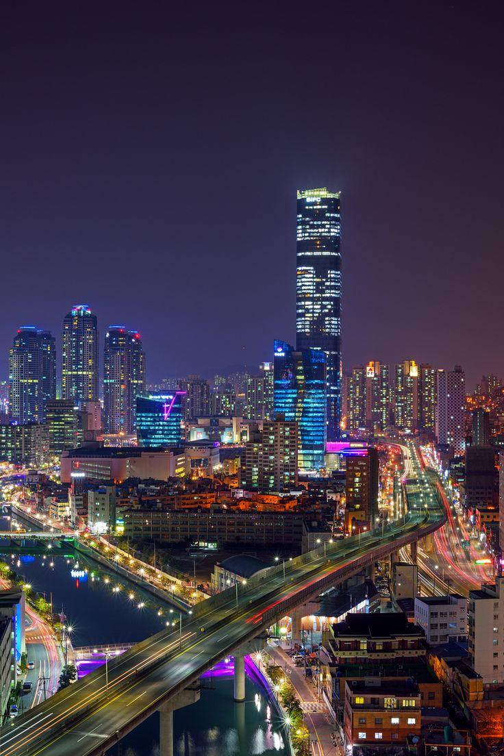Hong Kong Wallpaper Iphone X Munhyeon Finance Center At Night Busan South Korea