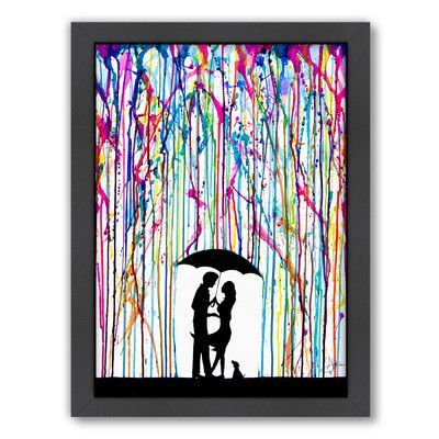 Americanflat Two Step (Print B) by Marc Allante Framed Graphic Art Frame Color: Black