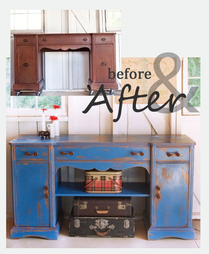 before and after furniture upcycle