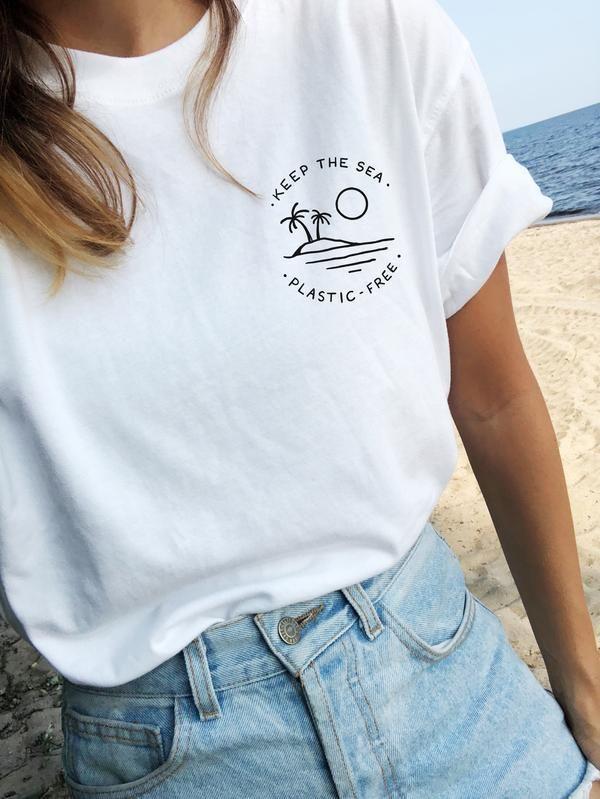 Halten Sie das Meer frei von Plastik – Öko-T-Shir…
