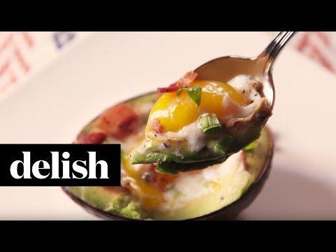 Cooking Avocado Eggs Boats Video - Avocado Egg Boats How to Video