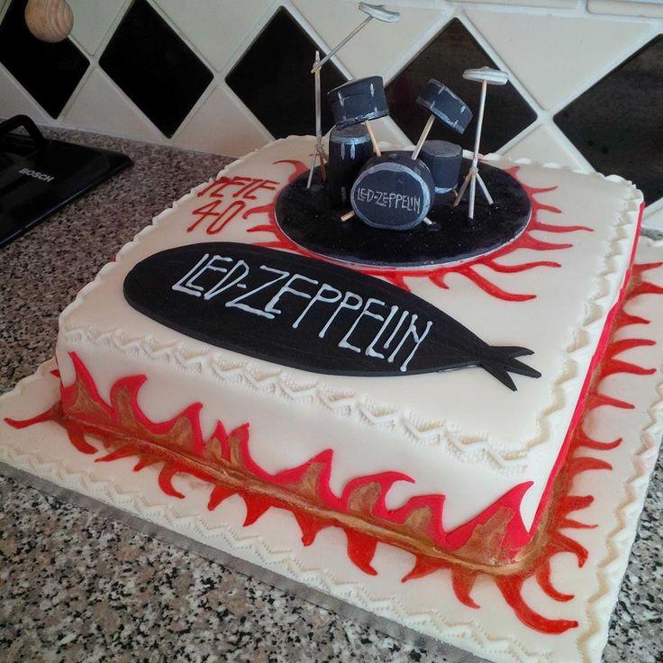 Led Zeppelin Birthday Cake Birthday Cakes Pinterest