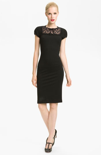 RED Valentino Lace Detail Jersey Dress available at #Nordstrom