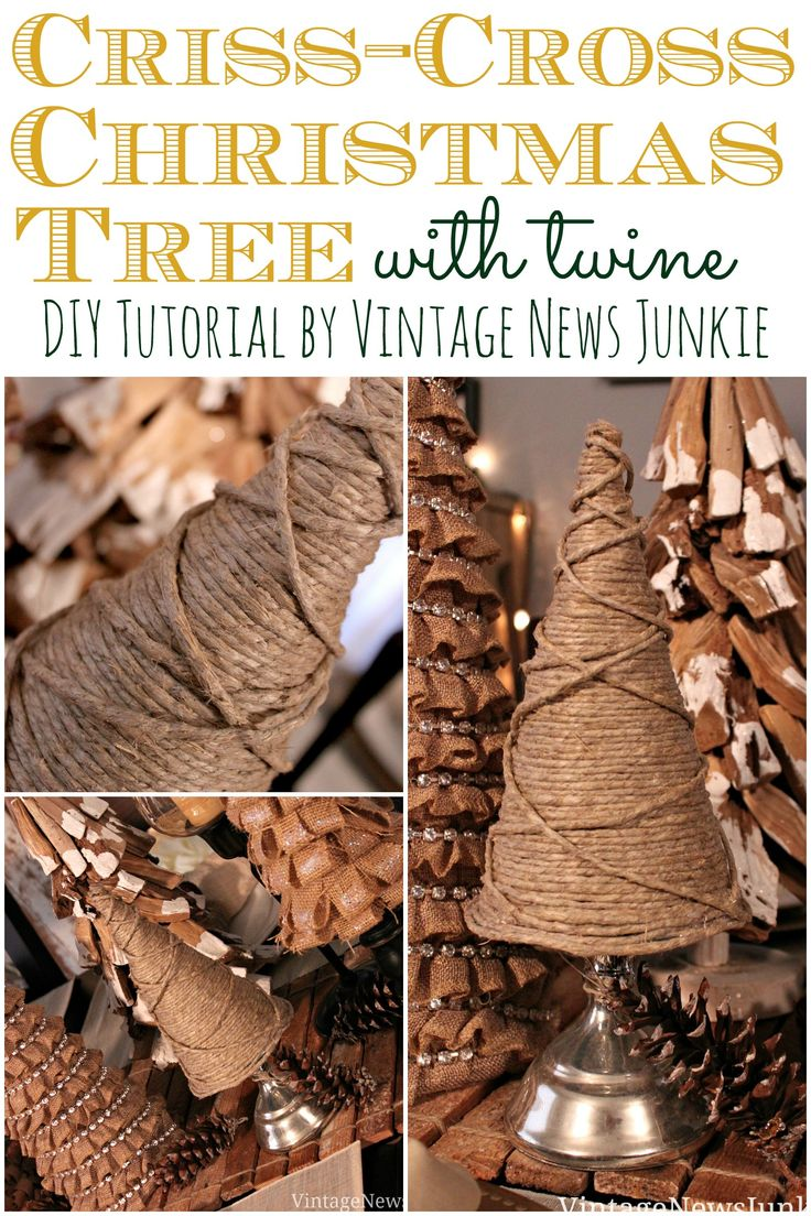 Criss-Cross Christmas Tree with Twine {DIY Tutorial} #12DaysofTrees