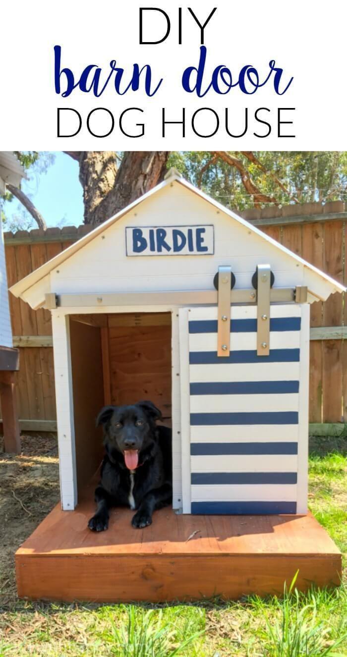 Diy Dog House Barn Door Dog House Dog House Plans Dog Houses