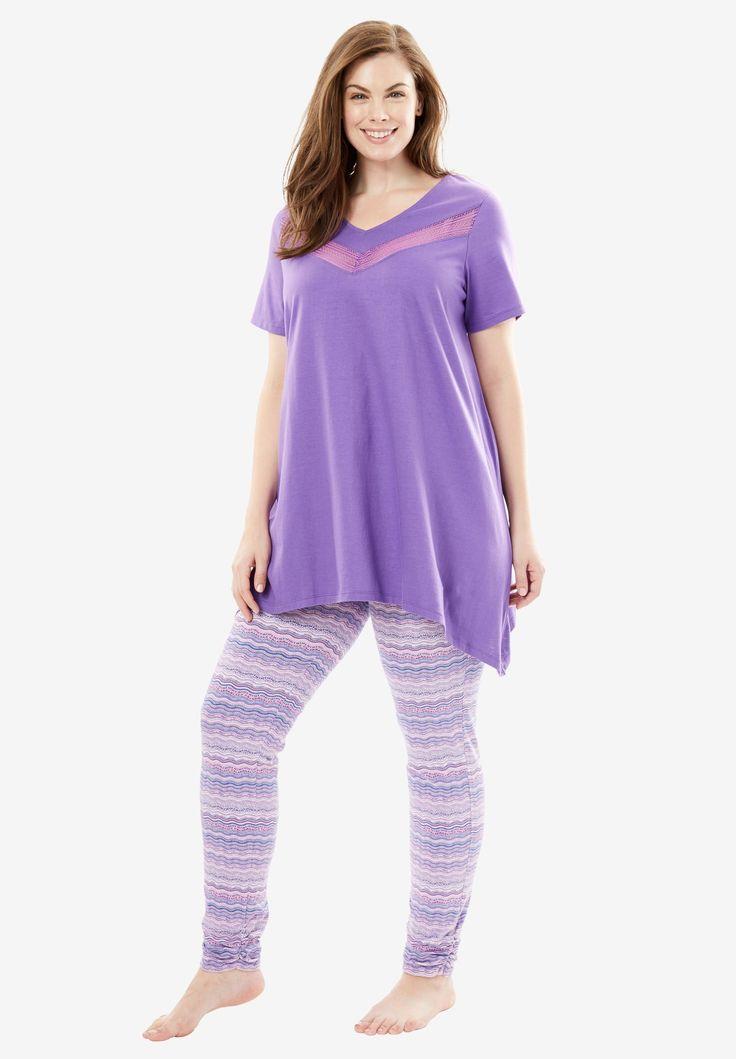 Lace Tunic & Legging PJ Set by Dreams & Co.