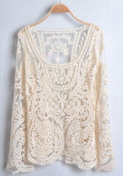 Lace Long Sleeve Cotton T