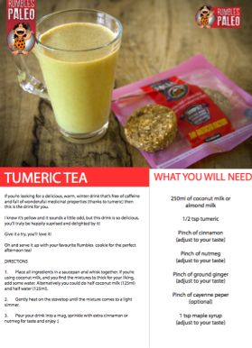 This Golden Paleo Milk - otherwise known as Turmeric Latte - is perfect for counteracting the current winter chill! FYI: There's no limit to the benefits of turmeric.
