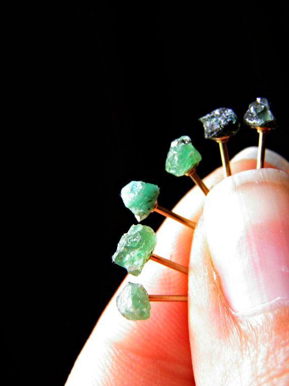 Rough Raw andOrganic Genuine Emerald gemstone by PeggysPassions, $20.00