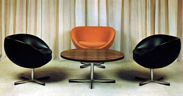 The Planet chair produced by Varier was created in 1965 by Norwegian furniture designer Sven Ivar Dysthe. It remains popular to this day.