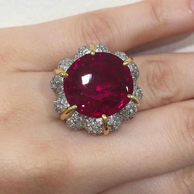 #christiesjewels 15.99ct Burmese Ruby Ring... The Jubilee Ruby! New York Sale