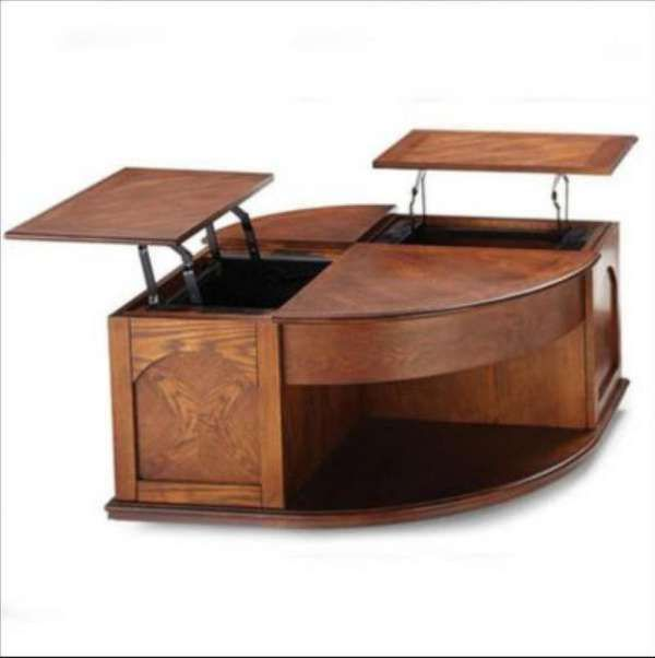 Pie Wedge Lift Top Coffee Table