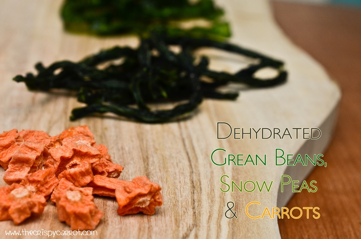 Dehydrated Green Beans, Snow Peas and Carrots