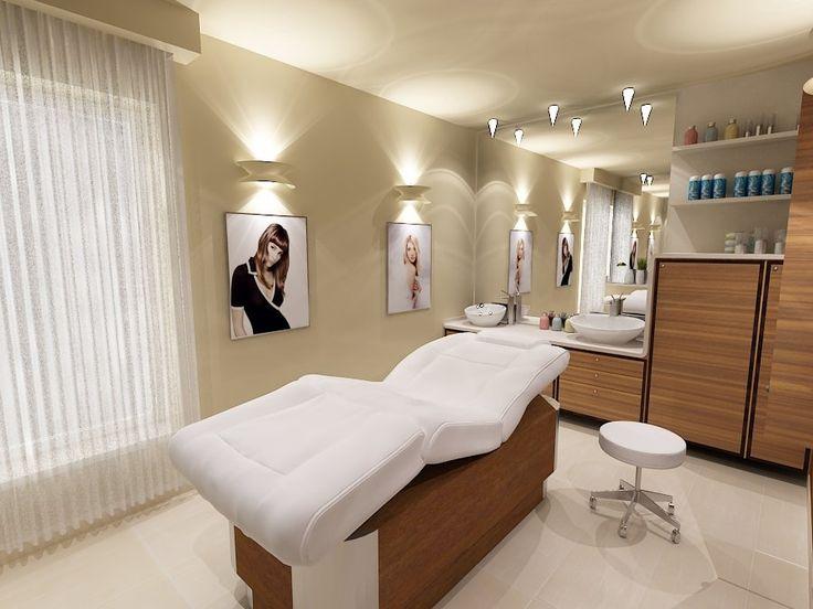 Pokój do masażu – Projekt wnętrz #spa #masaz #projektant #architekt #łódź