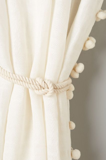 Perfect for reading nook in living room! Anchored Tieback - anthropologie.com #WishBigWinBig #wedding #registry