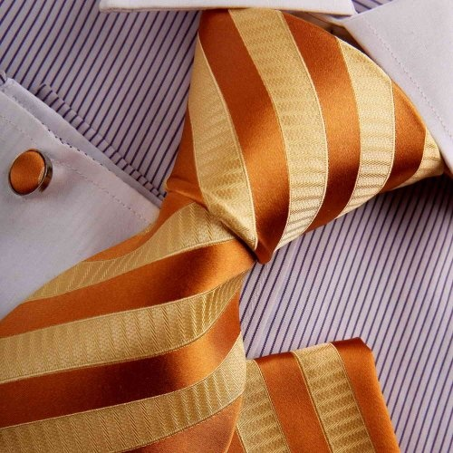 Orange Dress Ties Men Wedding Tie For Men Orange