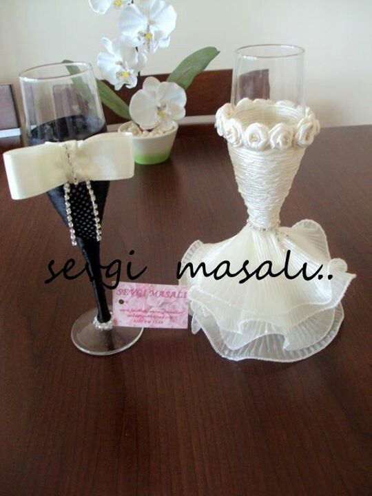 Copas para los novios copas de mi boda pinterest the bride brides and love the - Diy para bodas ...