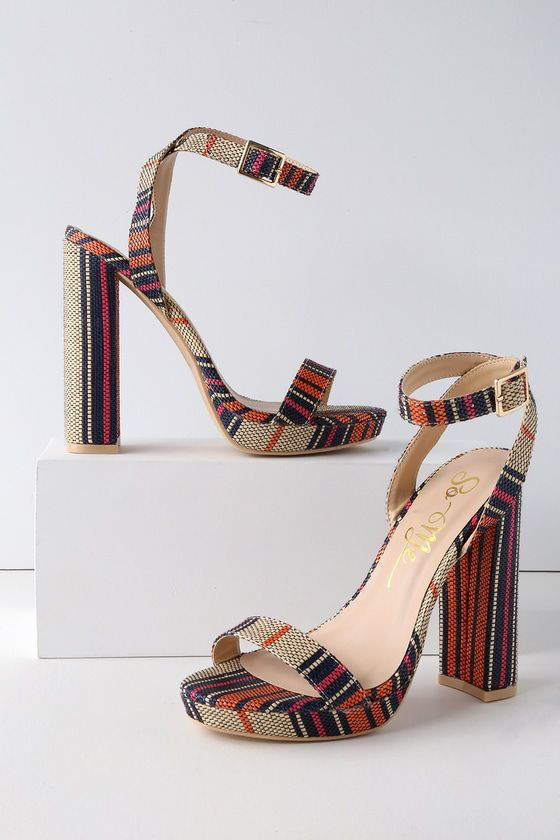 f471a6dfa ASHLEE MULTI STRIPED HIGH HEEL SANDALS