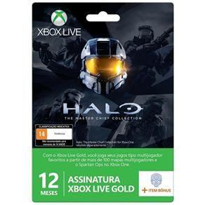 Cartão Xbox Live Gold 12 Meses Halo: Master Chief Collection + 1 Item Bônus R$119,00 (2x)