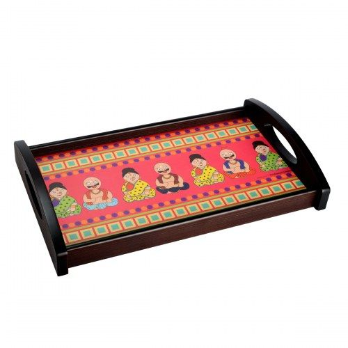 TEC Tray Rect Panditji – Nodding doll Medium