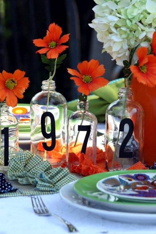 birth year on bottles make an original addition to a birthday table