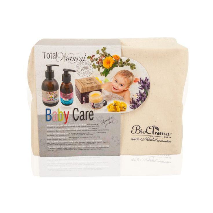 Ολοκληρωμένη Φυσική Φροντίδα Μωρού  € 23.50 Το πακέτο περιέχει: 1. Φυσικό Σαμπουάν & Αφρόλουτρο για Παιδιά με Λεβάντα & Καλέντουλα 2. Baby oil Ιδανικό και για την αλλαγή της πάνας 3. Κεραλοιφή για Μωρά