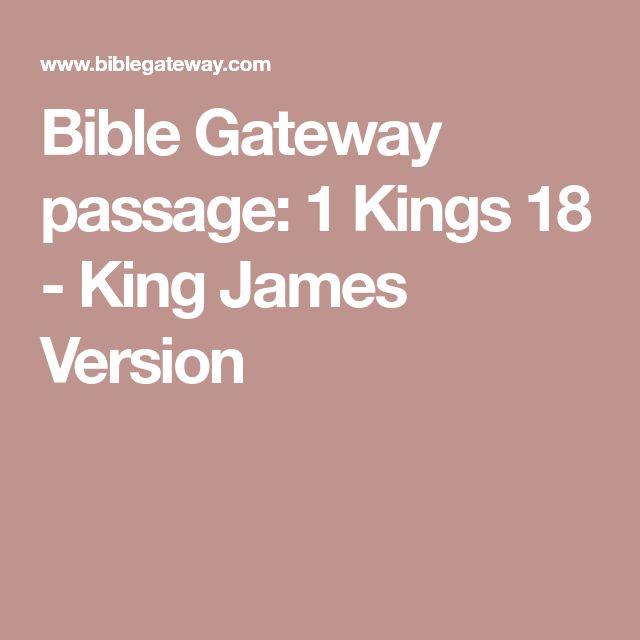 Bible Gateway passage: 1 Kings 18 - King James Version