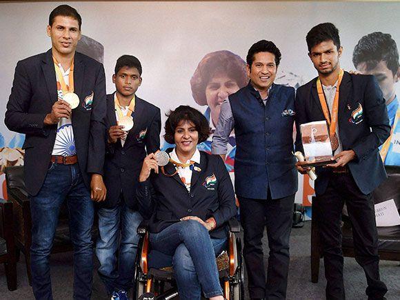 Paralympic medal winner felicitation ceremony _in Mumbai