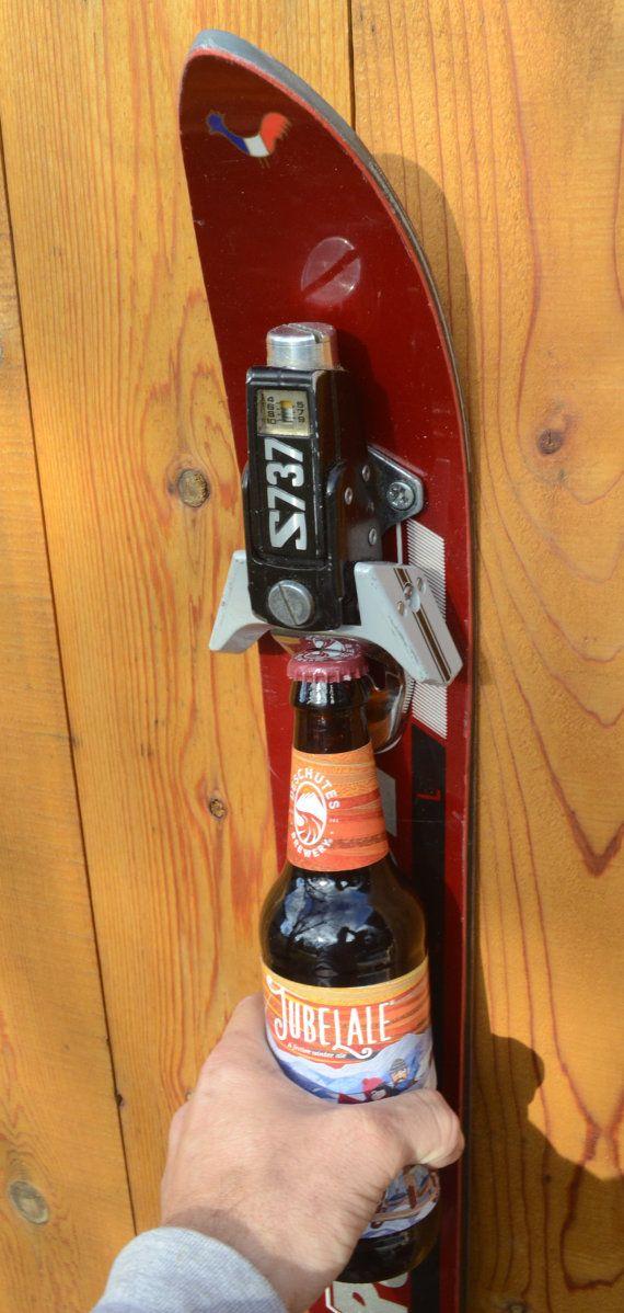 brewSki2 l'ouvreur de bouteille de ski vintage upcycled par upCyD