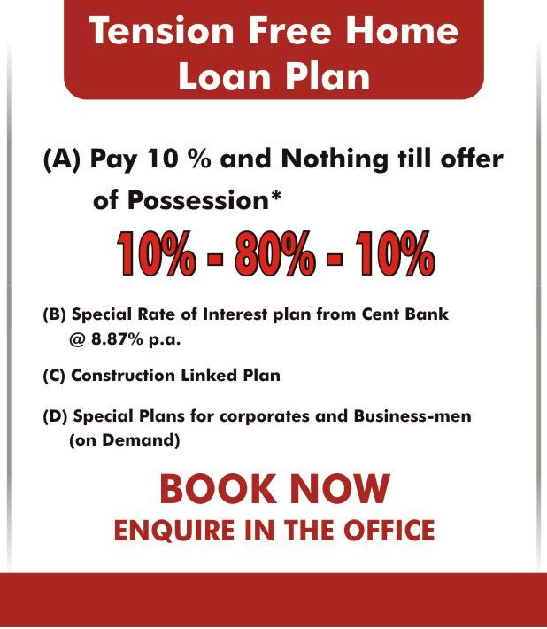 NO TENSION PLAN 10% + 80% + 10% PAY 10% AND NOTHING TILL OFFER OF POSSISSION For Booking Call 9650690099 More Info Please Visit Website http://andromida.builders/flats-in-delhi/