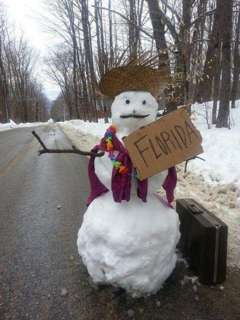snowman photos florida hitch hiking | Spring Snow Hits The Southcoast