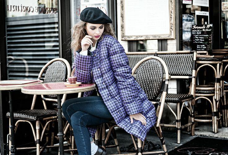 #fall #winter #collection cstudio #paris #bar #fashion #jacket #violet #purple #pieddupoil