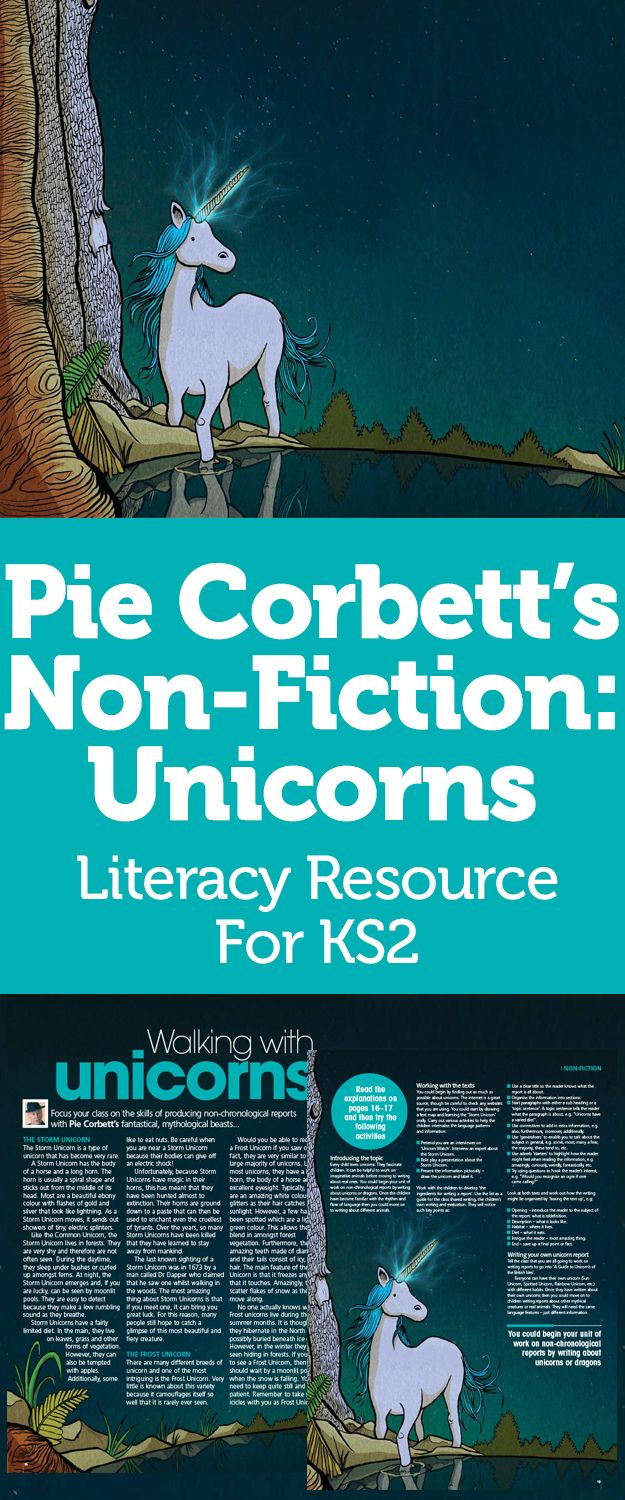 Pie Corbett's Non-Fiction: Unicorns – Literacy Resource For KS2
