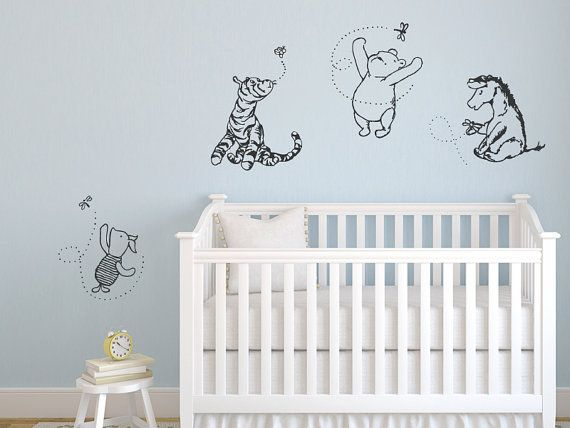 Classic Winnie the Pooh Tigger Eeyore and by GrabersGraphics