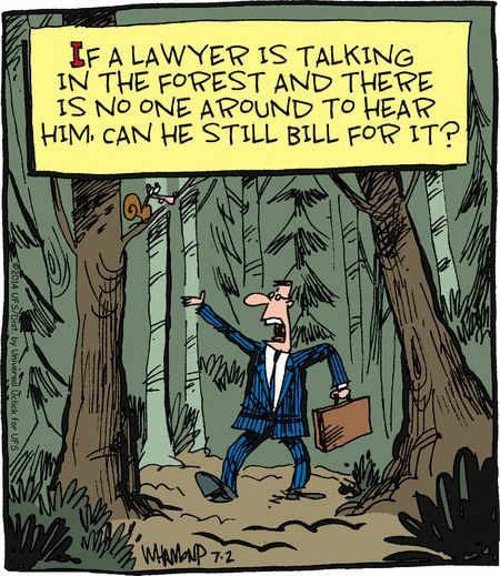 Not that I know any lawyers ...