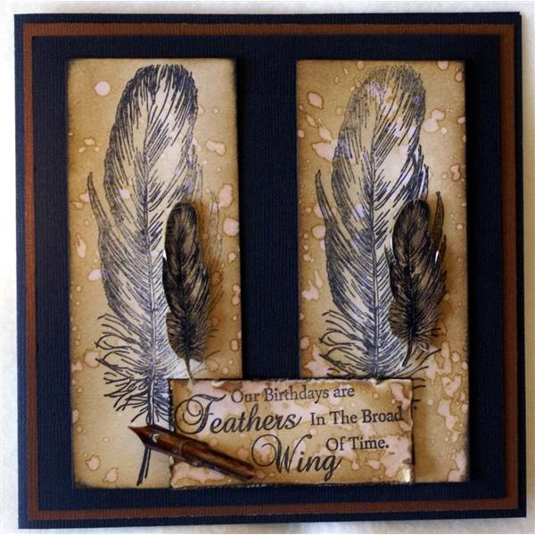 Crafters Companion Sheena Douglass A Little Bit Sketchy A6 Stamp Set - Falling Feathers