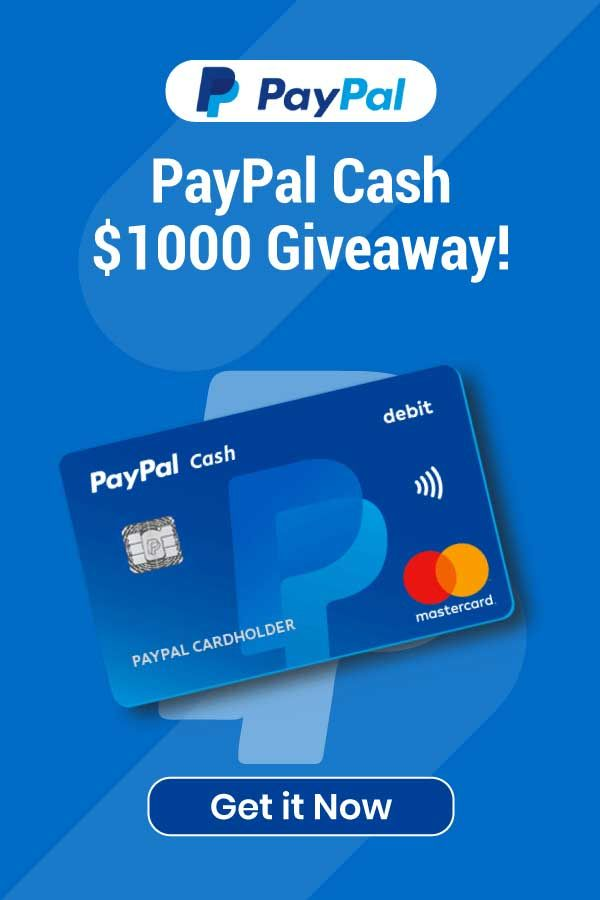 Paypal Cash 1000 Giveaway Paypal Gift Card Free Gift Cards Online Paypal Giveaway