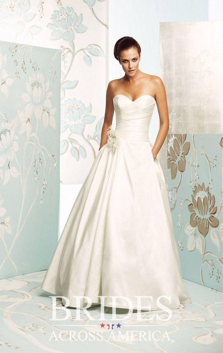 Trending Brides Across America White DoveStrapless Wedding DressesWedding