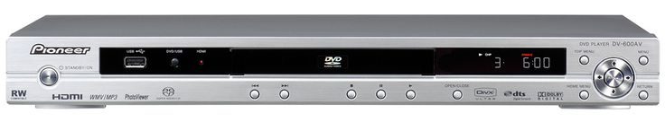 PIONEER DV-600AV universal player used for playing multichannel SACDs and DVD-Audio discs