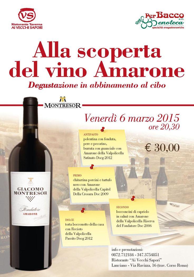 #Lanciano #Abruzzo #ristorante #gastronomia #vini #wines #wine #vino #Amarone #food  http://ristoranteaivecchisapori.blogspot.it/2015/02/alla-scoperta-del-vino-amarone.html