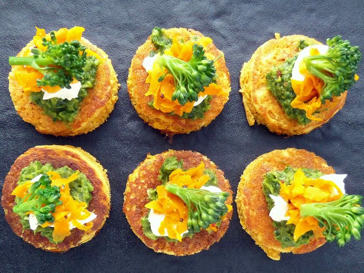 Chickpea blinis with carrot sambal